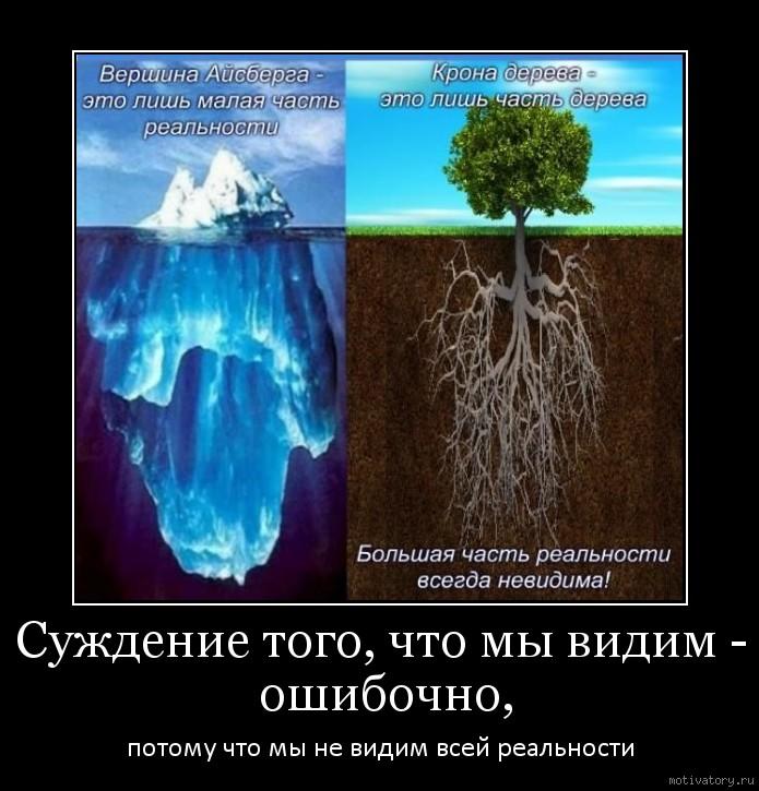 Суждение того, что мы видим - ошибочно,