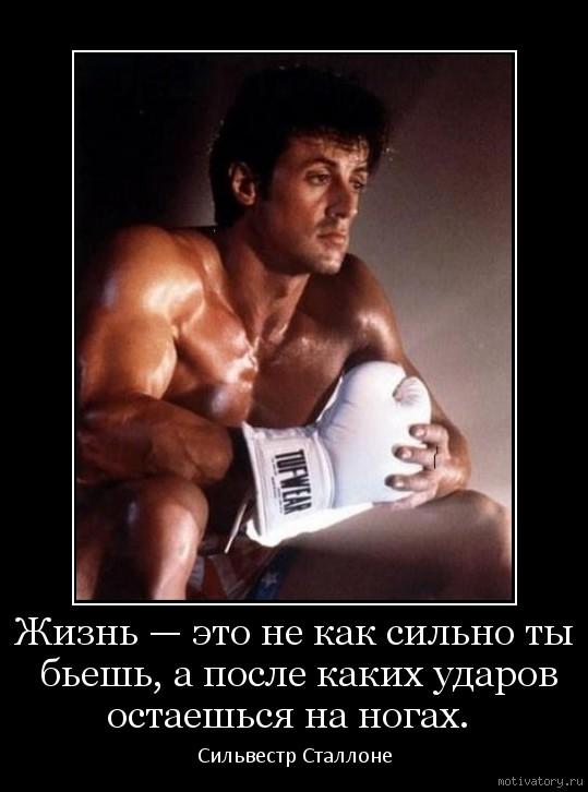 Жизнь — это не как сильно ты бьешь, а после каких ударов остаешься на ногах.