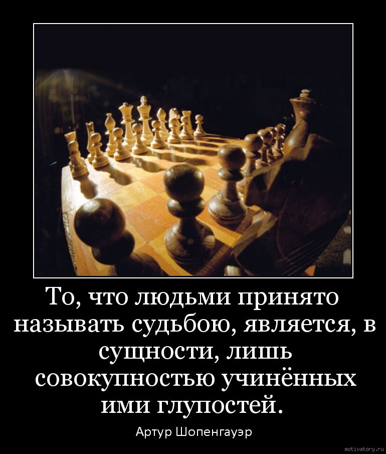 То, что людьми принято называть судьбою, является, в сущности, лишь совокупностью учинённых ими глупостей.