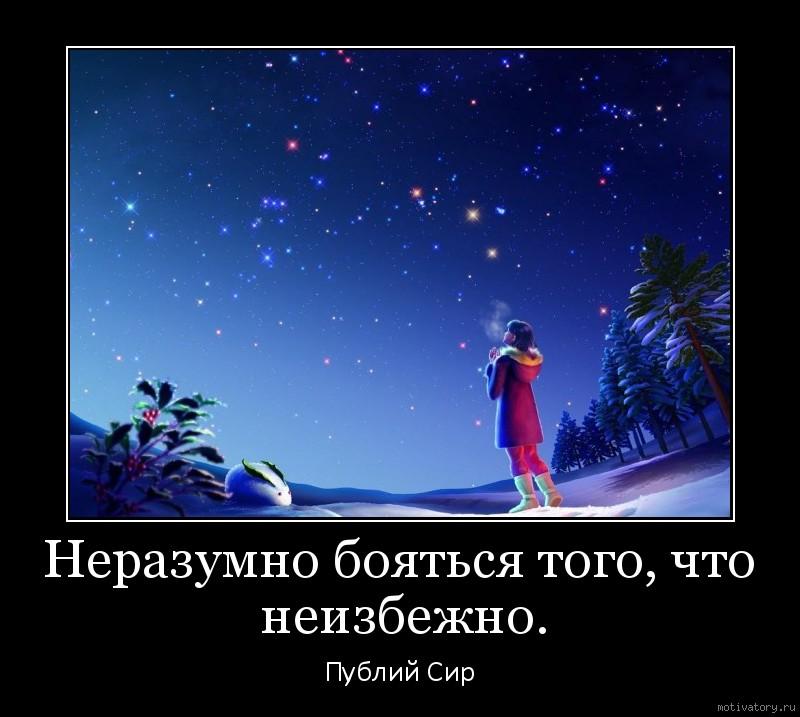 Неразумно бояться того, что неизбежно.