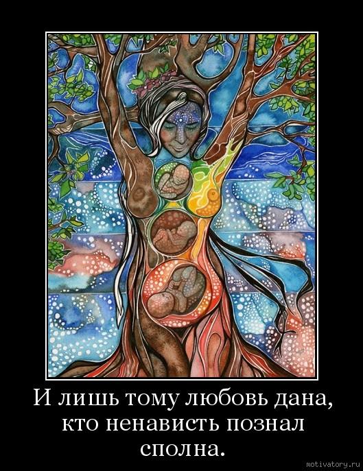 И лишь тому любовь дана, кто ненависть познал сполна.