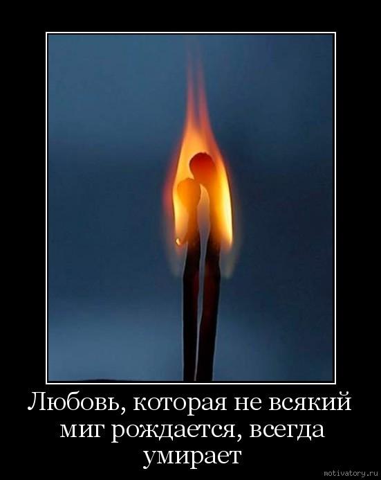 Любовь, которая не всякий миг рождается, всегда умирает