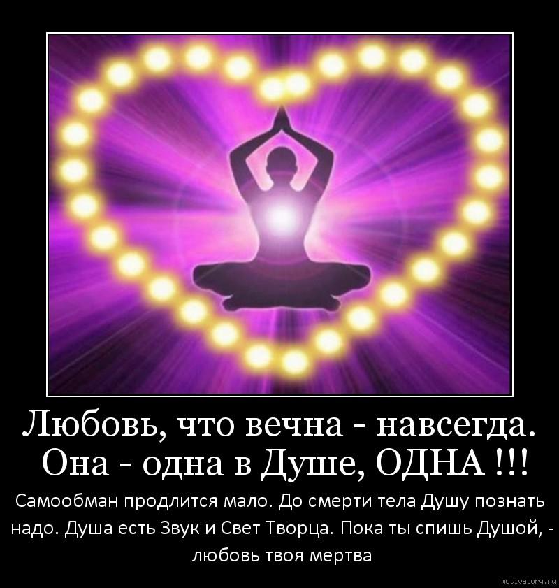 Любовь, что вечна - навсегда. Она - одна в Душе, ОДНА !!!