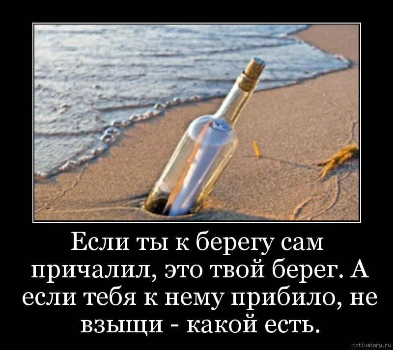 Если ты к берегу сам причалил, это твой берег. А если тебя к нему прибило, не взыщи - какой есть.