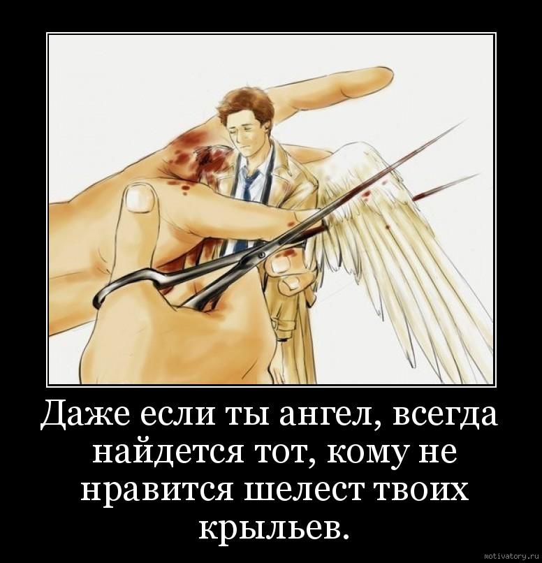 Даже если ты ангел, всегда найдется тот, кому не нравится шелест твоих крыльев.
