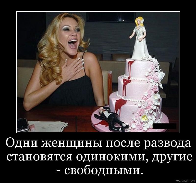 Одни женщины после развода становятся одинокими, другие - свободными.