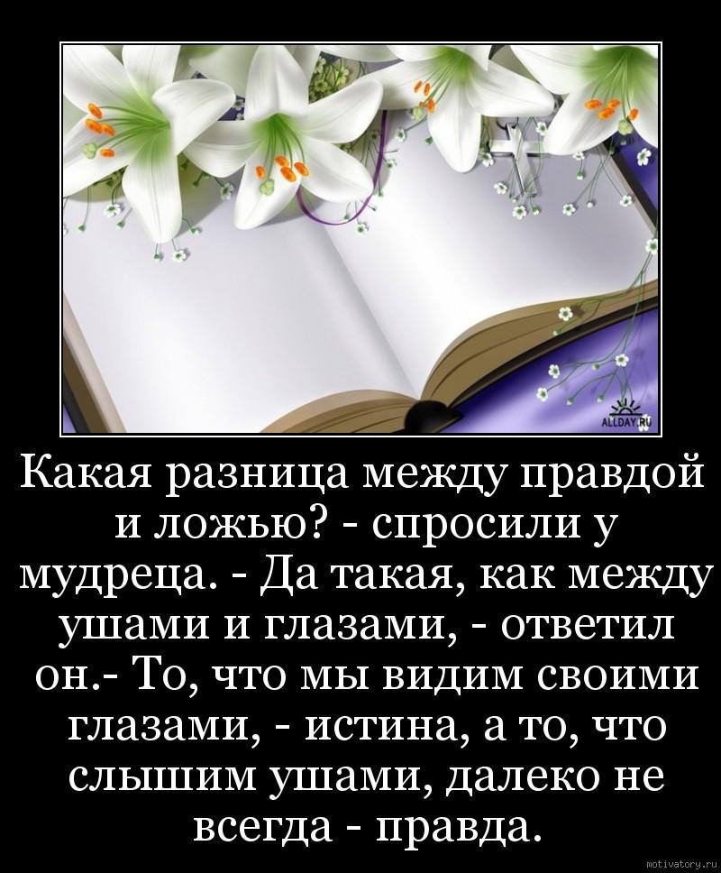 Стих про правду или ложь