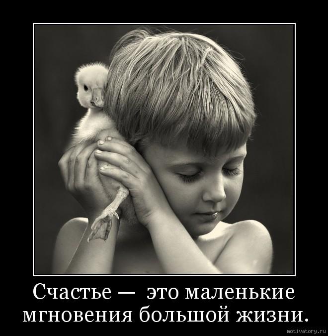 Счастье —  это маленькие мгновения большой жизни.