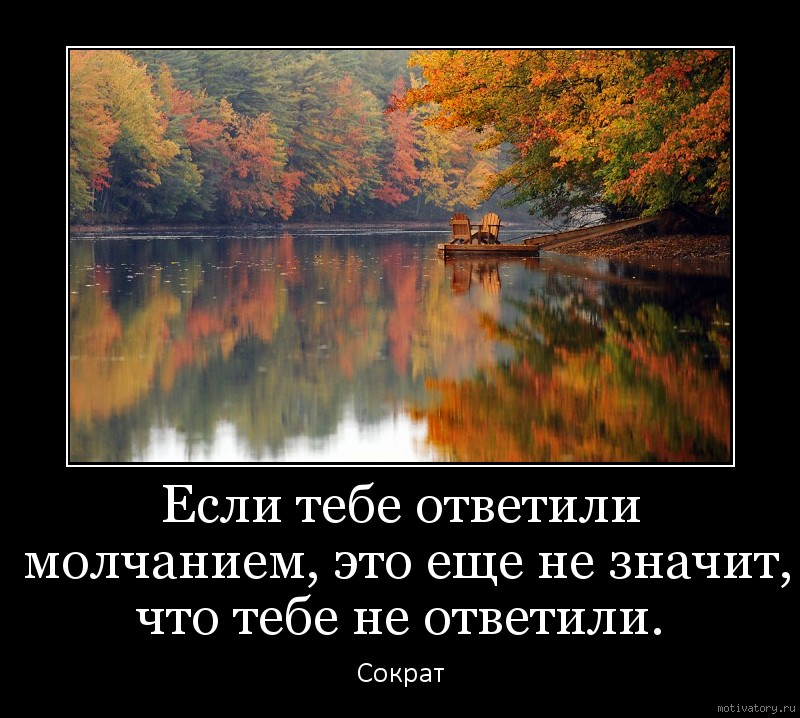 Если тебе ответили молчанием, это еще не значит, что тебе не ответили.