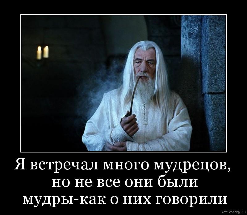 Я встречал много мудрецов, но не все они были мудры-как о них говорили