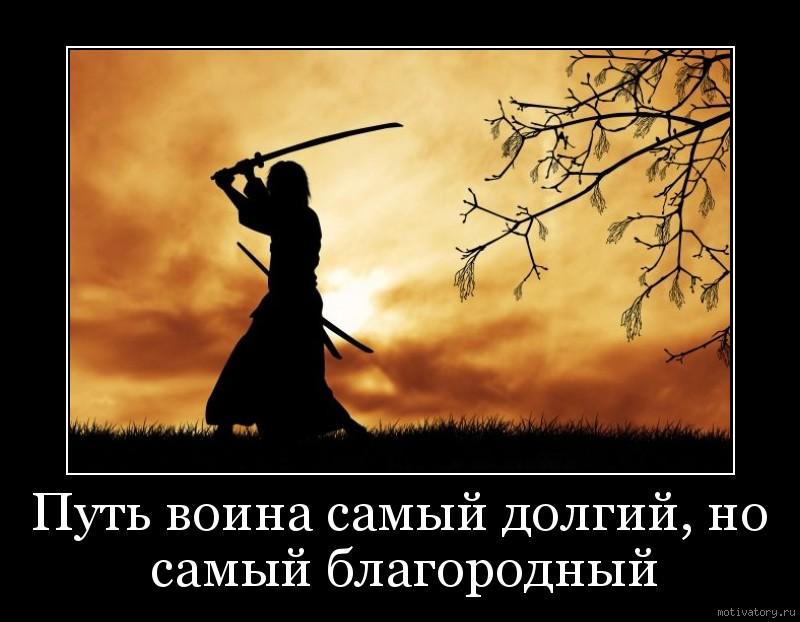 Путь воина самый долгий, но самый благородный
