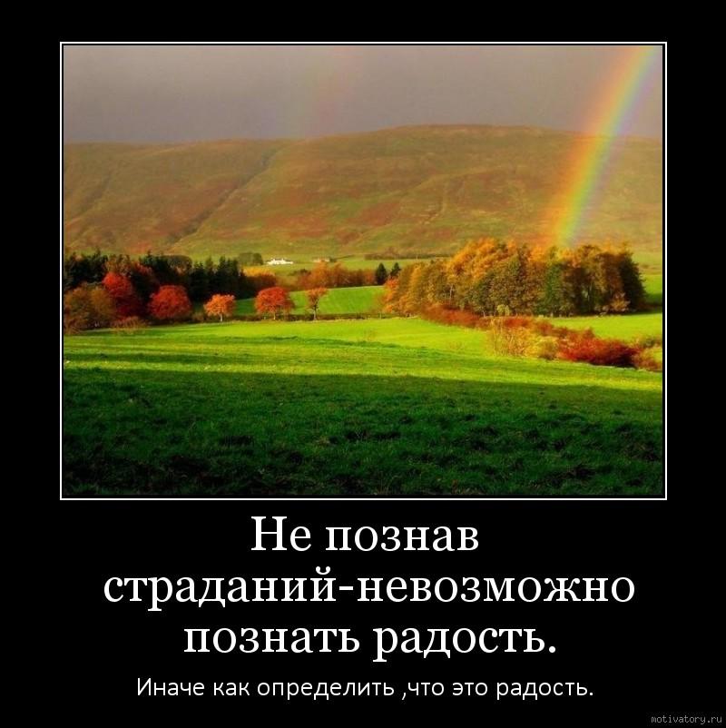 Не познав страданий-невозможно познать радость.