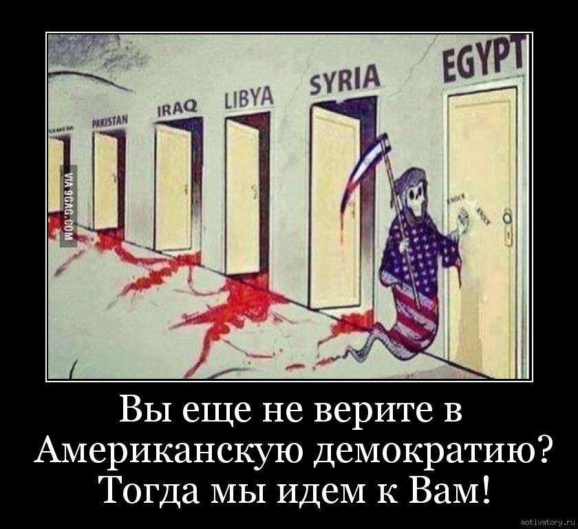 Вы еще не верите в Американскую демократию? Тогда мы идем к Вам!