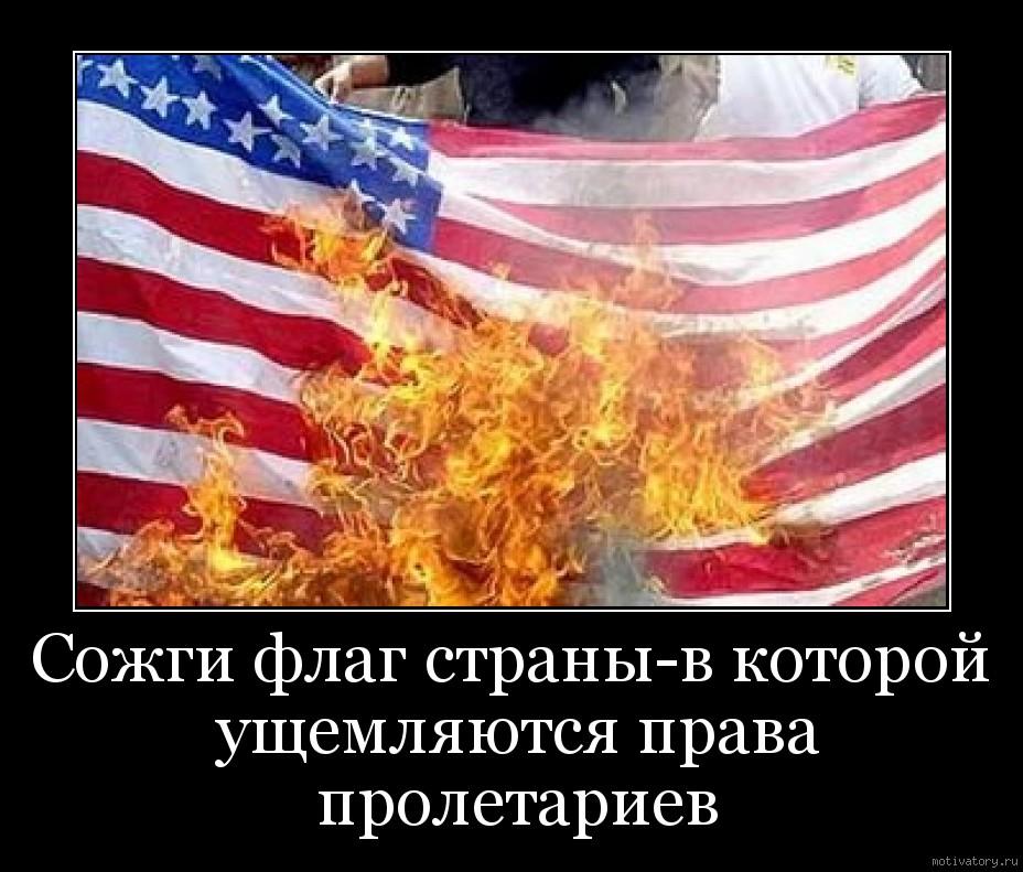 Сожги флаг страны-в которой ущемляются права пролетариев