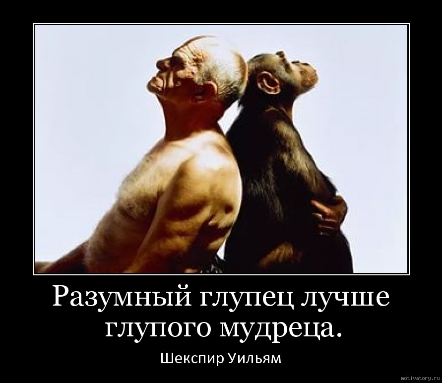 Разумный глупец лучше глупого мудреца.