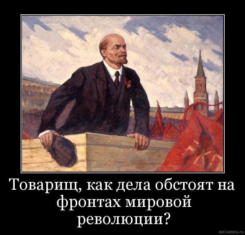Товарищ, как дела обстоят на фронтах мировой революции?