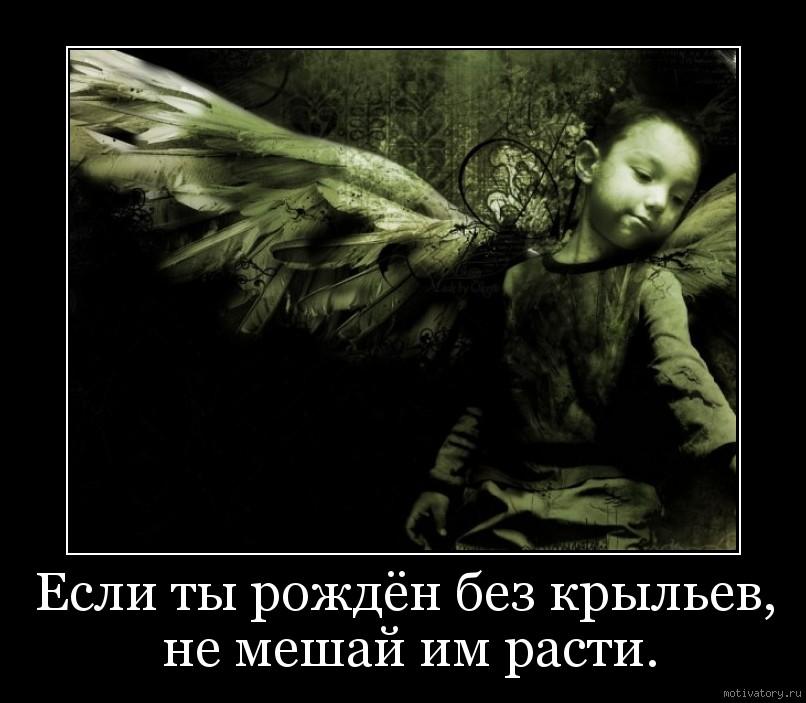 Если ты рождён без крыльев, не мешай им расти.
