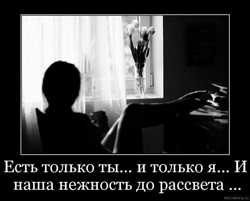 Есть только ты… и только я… И наша нежность до рассвета ...
