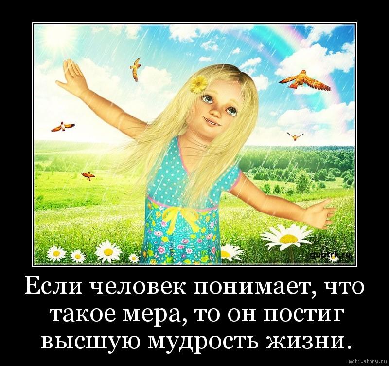 Если человек понимает, что такое мера, то он постиг высшую мудрость жизни.