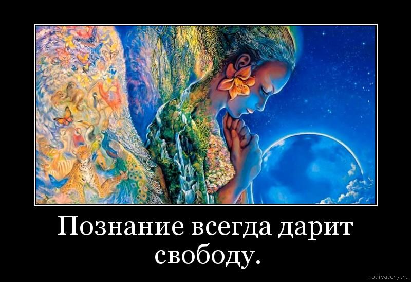 Познание всегда дарит свободу.