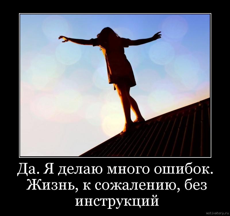 Да. Я делаю много ошибок. Жизнь, к сожалению, без инструкций