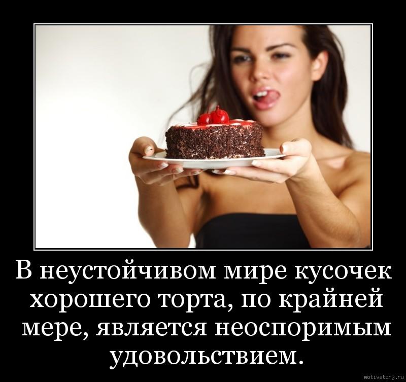 В неустойчивом мире кусочек хорошего торта, по крайней мере, является неоспоримым удовольствием.