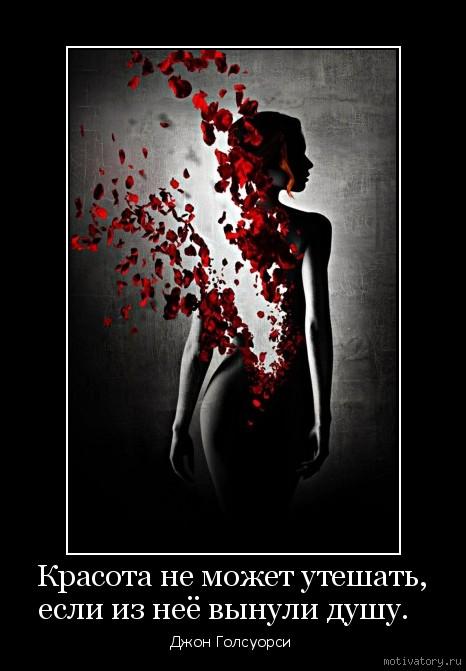 Красота не может утешать, если из неё вынули душу.