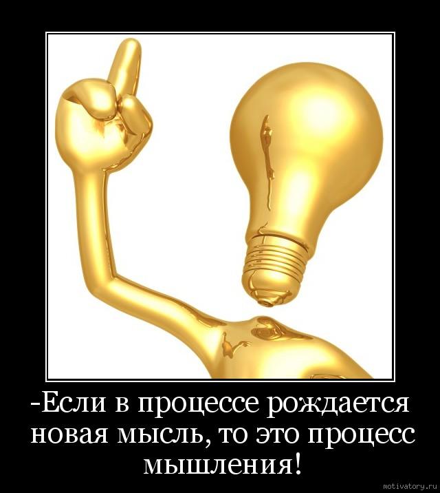 -Если в процессе рождается новая мысль, то это процесс мышления!