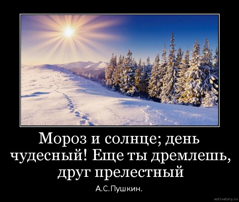 мороз и солнце день чудесный картинка с надписью телеведущая