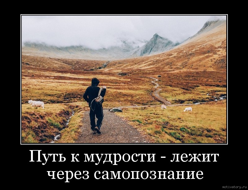 Путь к мудрости - лежит через самопознание