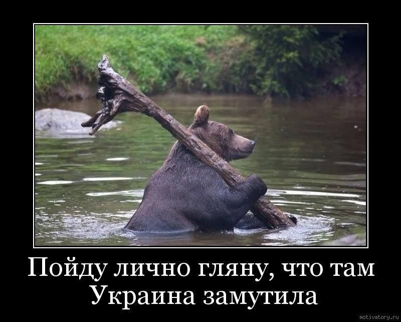 Пойду лично гляну, что там Украина замутила