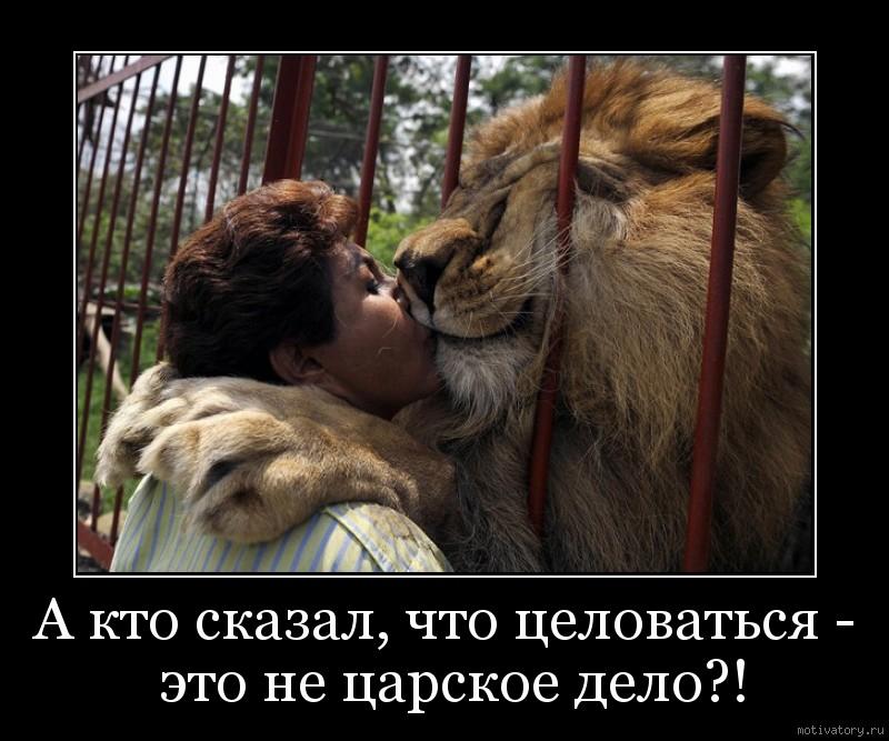А кто сказал, что целоваться - это не царское дело?!