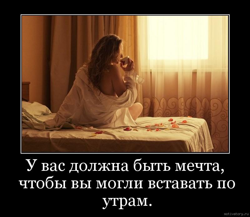У вас должна быть мечта, чтобы вы могли вставать по утрам.