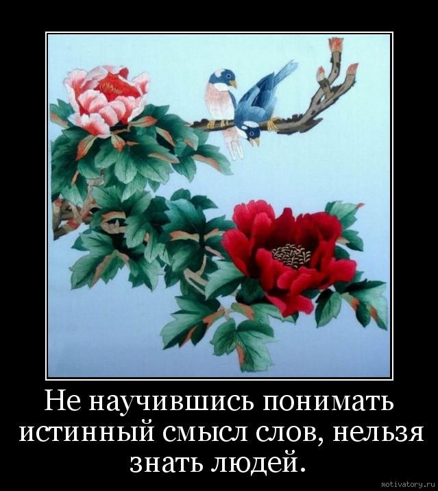 Не научившись понимать истинный смысл слов, нельзя знать людей.