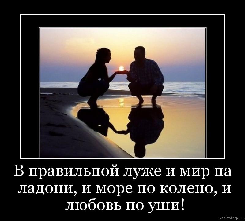 В правильной луже и мир на ладони, и море по колено, и любовь по уши!